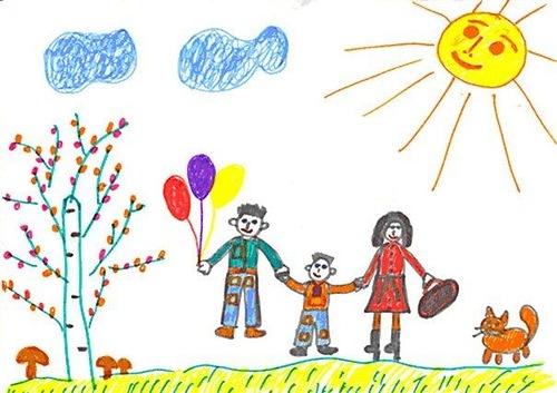 Ваше дитя малює сім'ю і вам цікаво, як можна проаналізувати дитячу картину з точки психолога?