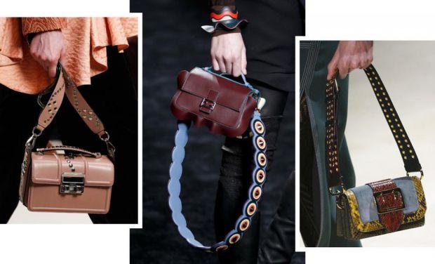 Широкий ремінь в сумки - це не тільки зручно, але і дуже стильно.