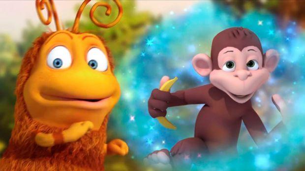 В цей раз Приг і Скок побачили мавпочку.