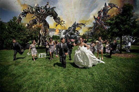 Поєднати весільну церемонію та фантастичні фільми і фільми жахів - фешн-фотограф вирішив, що це чудова ідея!