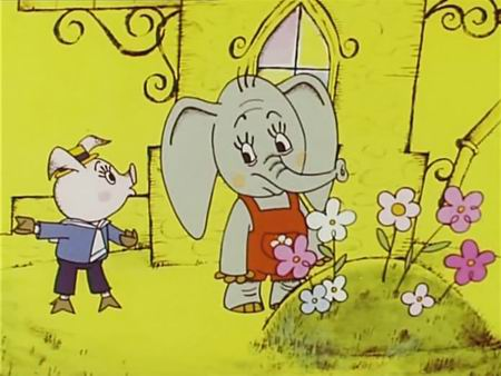 Порося подружилося зі слоненям, бо йому це було вигідно. А слоненя щиро вважало, що воно - друг поросяти...