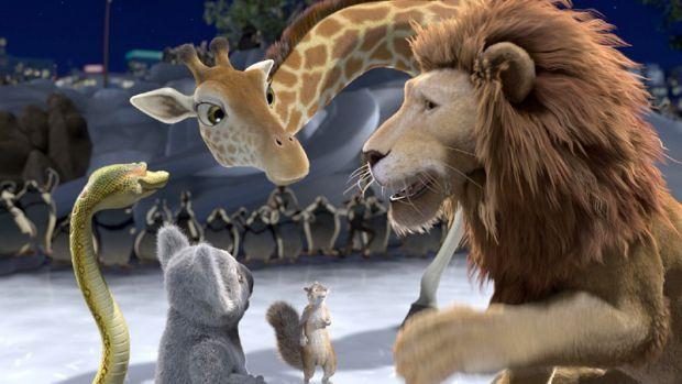 Левенятко Раяна розлучили з його батьком і з нью-йоркського зоопарку відправили на кораблі в Африку. Його друзі по звіринцю - коала, крокодил, хамелео