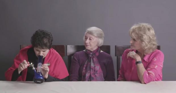 Як можуть виглядати 3 бабусі, які покурили марихуану?Бабусі Паула, Доротея і Дейдра ніколи не пробували траву, але канал Cut Video на Youtube зібрав ї