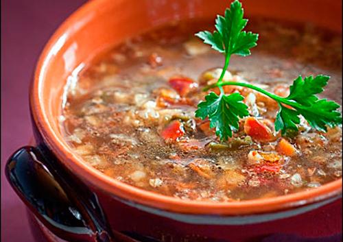 Суп від якого не страшно поправитися, тому що він з гречкою і рибою.
