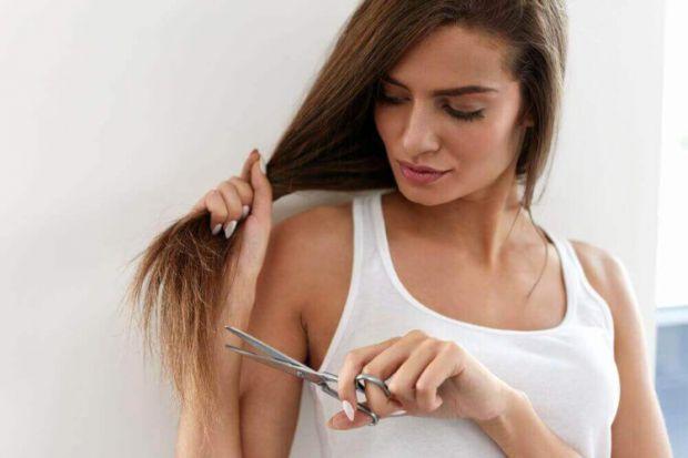 При перерізі волосини відбувається його розшарування на дві частини, які нагадують