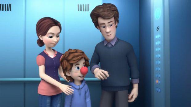 ДімДімич з батьками збирається в цирк. Сімка і Нулик хотіли потайки потрапити на виставу разом з ним - але не тут-то було! Зламався ліфт! Невже цирку