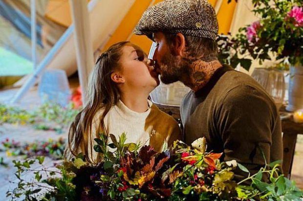 Девід Бекхем поцілував доньку в губи. Його вчинок засудили