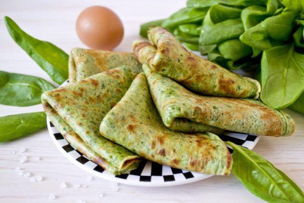 Млинці зі шпинату досить корисні та смачні, додають енергії і сили.