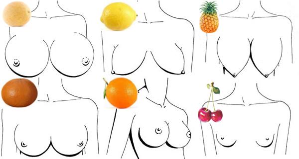 фото разних форм цицьок у дівчат