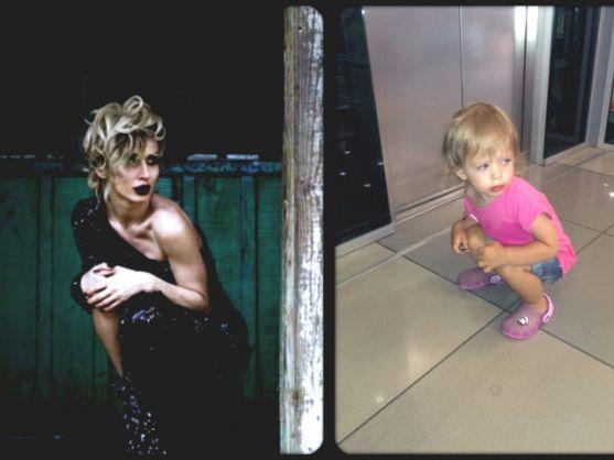 Маля неймовірно схоже на відому співачку, яка є їй хрещеною мамою.