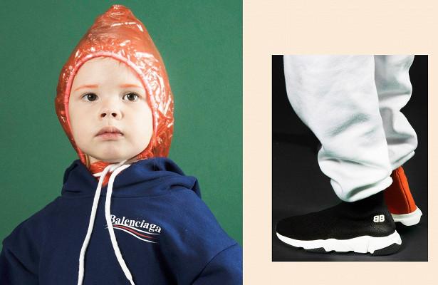 Модний французький бренд іспанського походження - Balenciaga, випустили колекцію дитячого одягу.