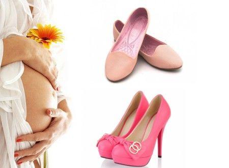 Під час вагітності ноги набрякають, збільшується на половину, а то і на цілий розмір ступи. Вагітним варто вибирати взуття на низькому, стійкому підбо