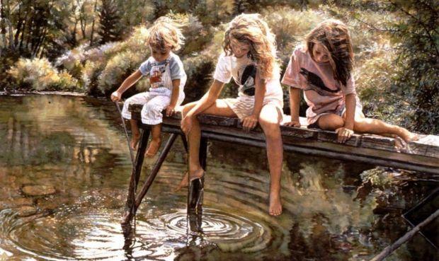 Стів Хенкс і його акварелі дитинства.Ніжні, світлі картини Стіва Хенкса розповідають нам про безтурботні моменти дитинства, про те, що значить по-спра