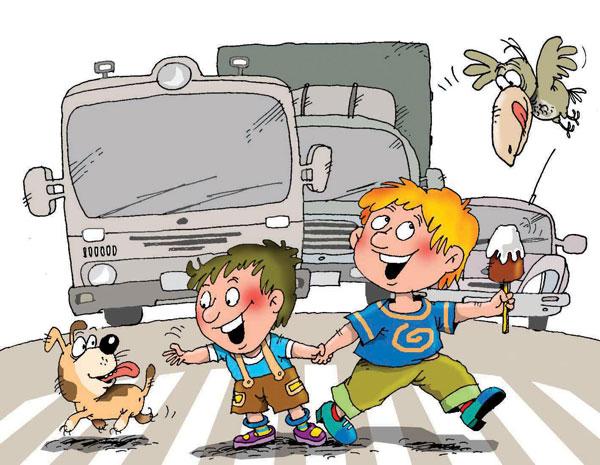 Навіть 3-річний малюк повинен знати, що на дорозі треба поводитися акуратно і уважно. Дорога – не місце для гри і бігу, тому що по ній їздять машини,