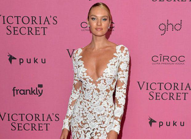 Вдруге вагітна модель Кендіс Свейнпол вразила шанувальників своїм стилем.