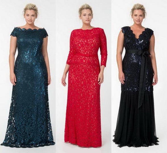 Вечернее платье на полных женщин