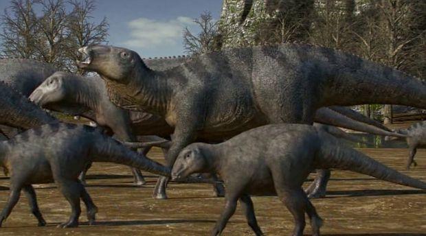 Півторагодинна історія розповідає про те, як кілька динозаврів мігрували на сотні кілометрів, до багатих пасовищ далекої півночі. У той же час інші ди