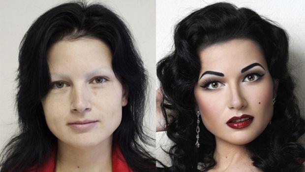 А ви б повірили, що це одна і та ж жінка?!Жінки без макіяжу можуть виглядати не зовсім так, як з ним. Але іноді це просто переходить всі межі... До ва