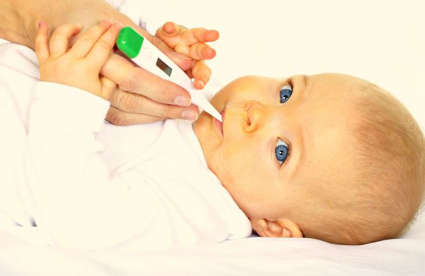 Перше місце серед захворювань з підвищенням температури у дітей займають гострі респіраторні захворювання (грип,  аденовірусна інфекція й ін.).