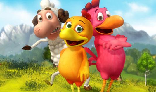 Малюків чекають дивовижні пригоди трьох друзів - курочки Кармен, півника Кармеліто і баранчика Белліно.