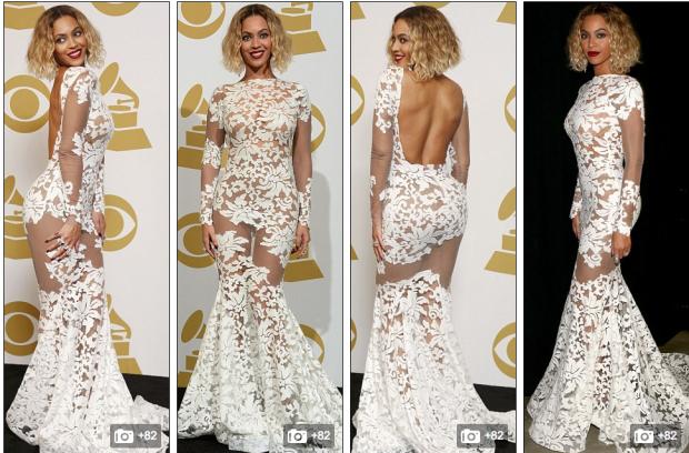 Співачка вразила всіх своїм вбранням на церемонії Grammy 2014.