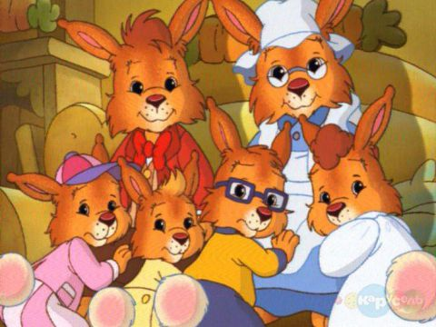 Тато Кролик - батько п'ятьох пустотливих кроленят. Пухнасте сімейство живе в затишному будинку, влаштованому в стовбурі величезного бука.